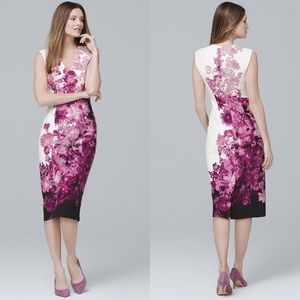 WHBM Sleeveless Floral Print Sheath Dress 12 #0062